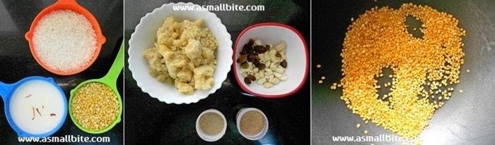 Sakkarai Pongal Recipe Step1