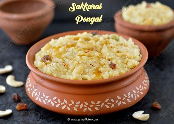 Sakkarai Pongal Recipe | Chakkara Pongal
