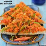 Vegetable Masala Sandwich | Bread Masala Toast Recipe
