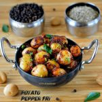 Potato Pepper Fry Recipe | Small Potato Fry Recipe