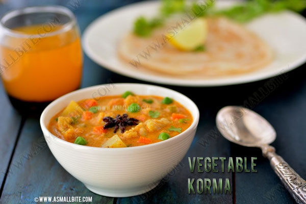 Veg Kurma Recipe | Vegetable Korma Recipe