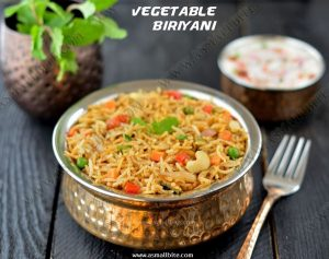 Vegetable Biriyani Recipe 1