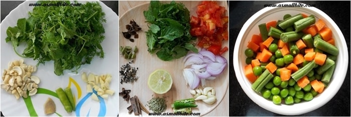 Vegetable Biriyani Recipe Steps1