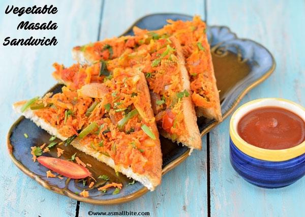 Vegetable Masala Sandwich 1