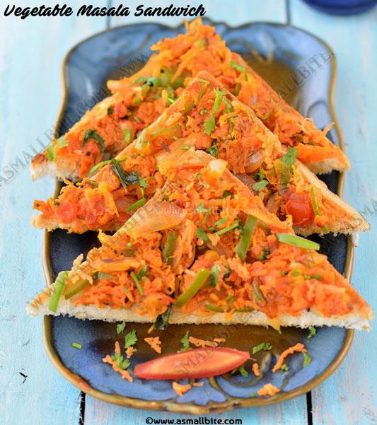 Vegetable Masala Sandwich 2