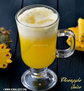 Fresh Pineapple Juice 1