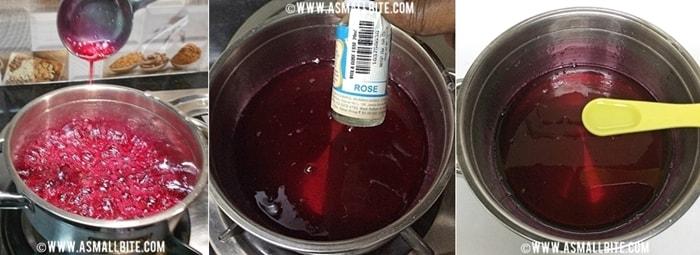 Homemade Rose Syrup Recipe Steps3