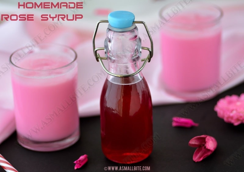 Homemade Rose Syrup Recipe
