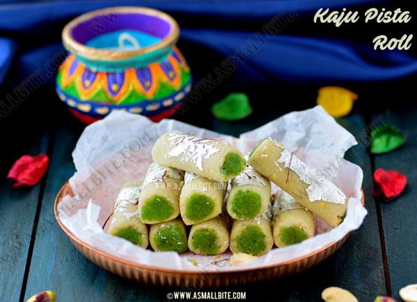 Kaju Pista Roll Recipe | Kaju Roll Recipe