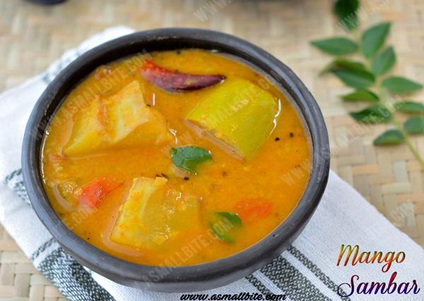 Mango Sambar Recipe 1