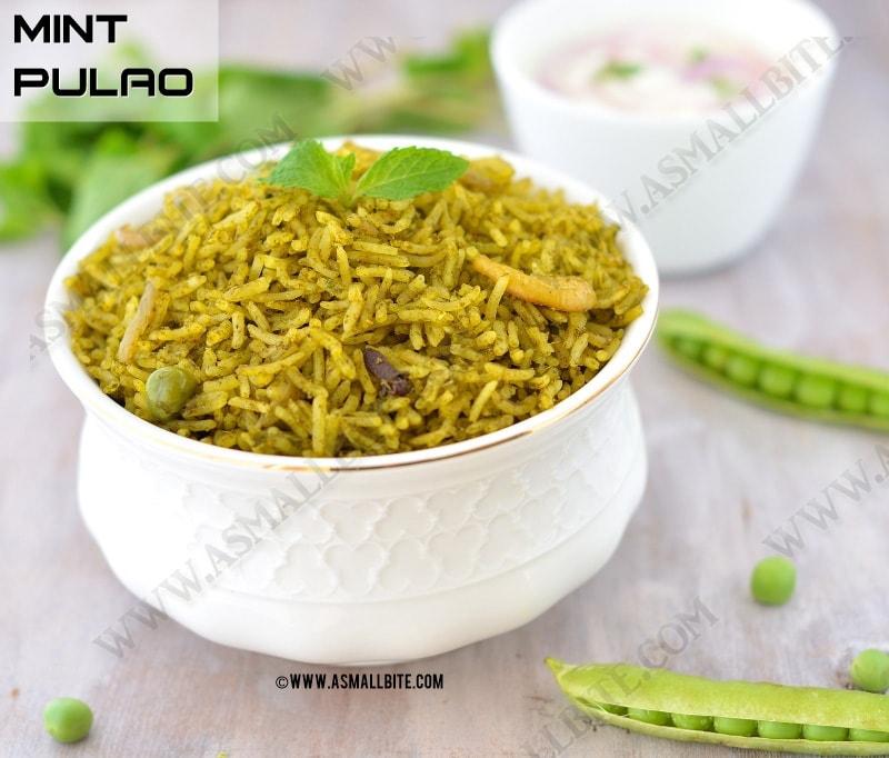 Mint Pulao Recipe | Mint Rice Recipe