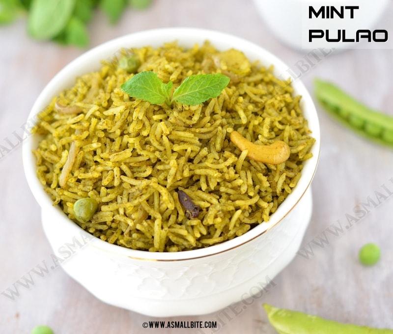 Mint Rice Recipe 1
