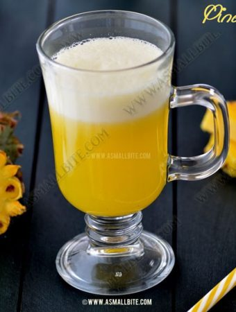 Pineapple Juice Recipe | Fresh Pineapple Juice