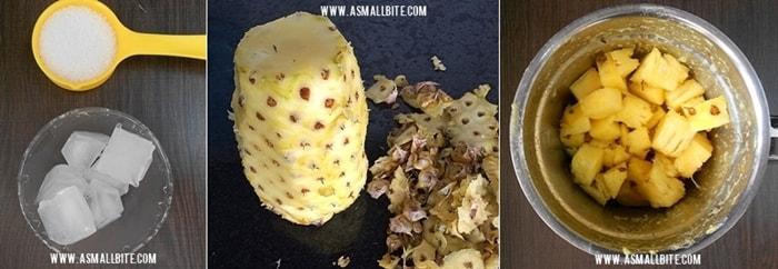 Pineapple Juice Recipe Step1