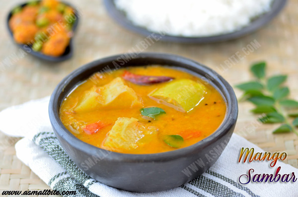 Raw Mango Sambar Recipe 1