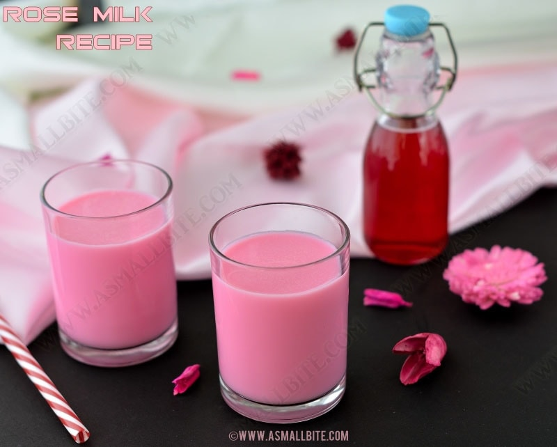 Rose Milk Recipe | Homemade Rose Syrup Recipe