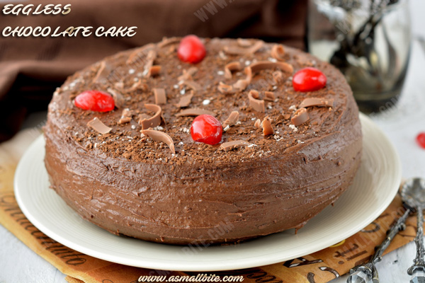 Eggless Chocolate Cake Recipe 1