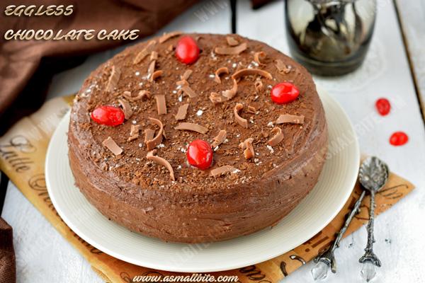 Eggless Chocolate Cake Recipe 2