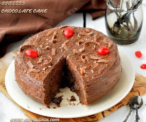 Eggless Chocolate Cake Recipe 3