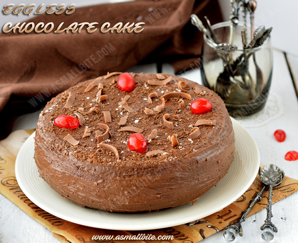 Eggless Chocolate Cake Recipe 4