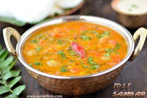 Idli Sambar Recipe 1