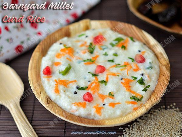 Barnyard Millet Curd Rice