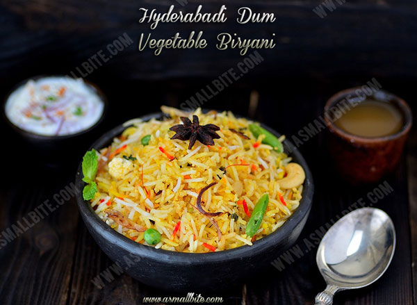 Hyderabadi Veg Dum Biryani Recipe | Hyderabadi Dum Biryani