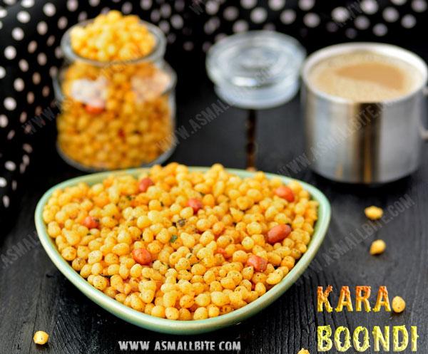 Kara Boondi Recipe 1