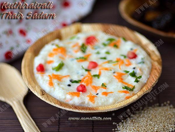 Kuthiraivali Thayir Sadam Recipe