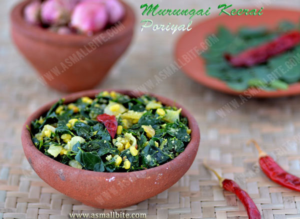 Murungai Keerai Poriyal Recipe