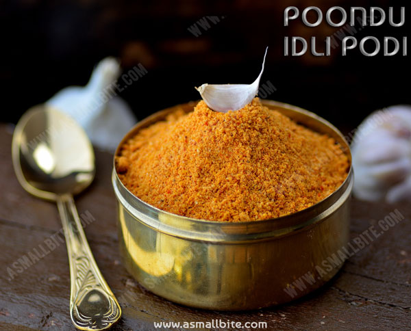 Garlic Podi Recipe | Poondu Idli Podi Recipe