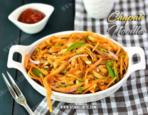 Chapati Noodles Recipe 1
