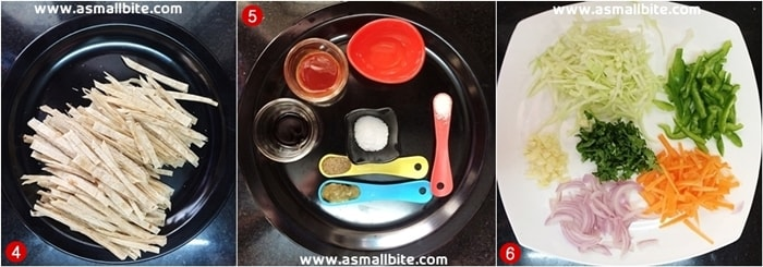 Chapati Noodles Recipe Steps2