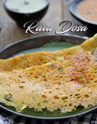 How to make Rava Dosa 1