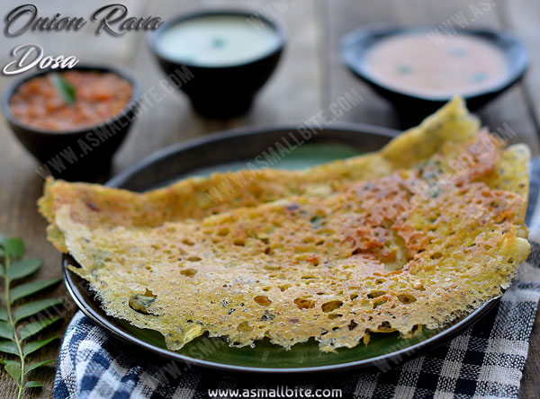 Instant Onion Rava Dosa Recipe 2