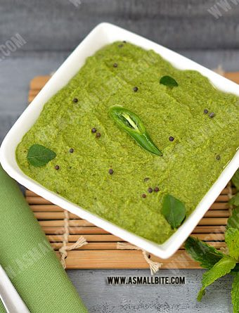 Mint Chutney Recipe | Pudina Chutney Recipe