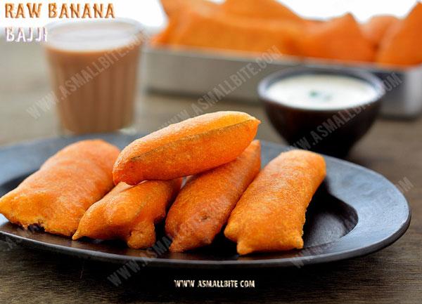 Raw Banana Bajji Recipe 1