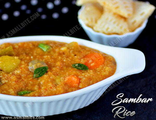 Sambar Rice Recipe 1