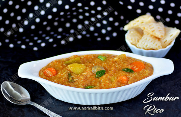 Sambar Rice Recipe | Sambar Sadam Recipe