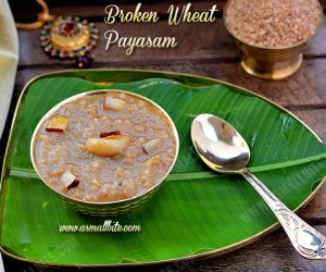 Broken Wheat Payasam 1