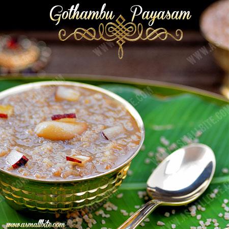 Kerala Gothambu Payasam 1