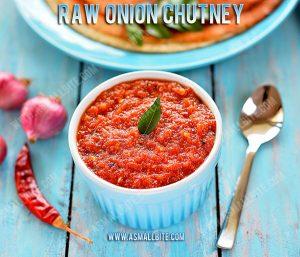 Raw Onion Chutney Recipe 1