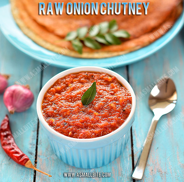 Raw Onion Chutney Recipe