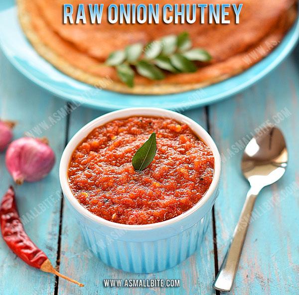 Raw Onion Chutney Recipe