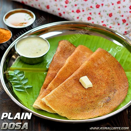 Plain Dosa Recipe | Dosa Batter In Mixie