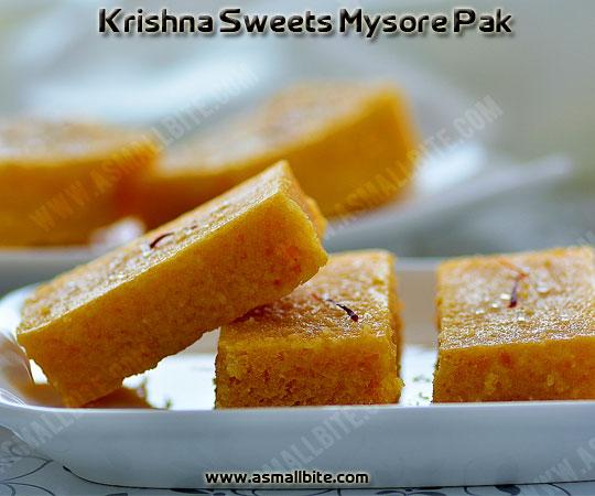 Krishna Sweets Mysore Pak 1