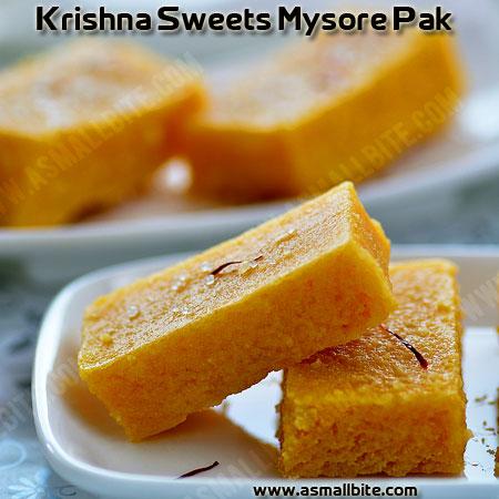 Krishna Sweets Mysore Pak