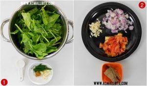 Palak Paneer Recipe Steps1