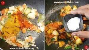 Potato Cauliflower Fry Steps6