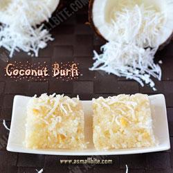 Coconut Burfi Diwali Recipes